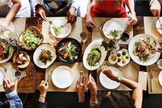 Food on table. Photographed by RawPixel.com. Image via Shutterstock.