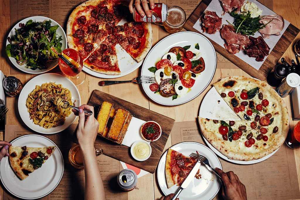 Baby's pizza spread. Image supplied