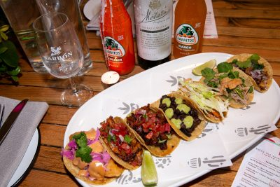 Mexican Carbon Bondi tacos with Jarritos drinks. Image: Supplied