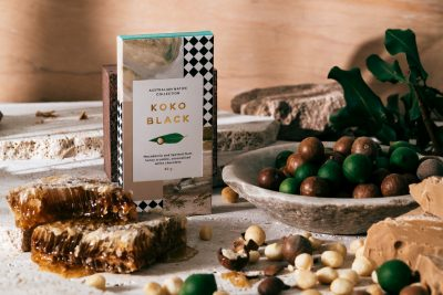 Koko Black Australian Native Collection. Macadamia and Spotted Gum. Image supplied