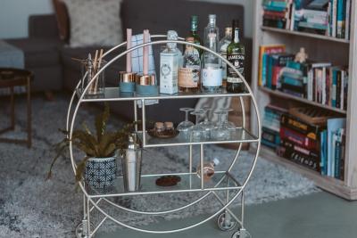 Bar Cart. Image by Taryn Elliot via Pexels.