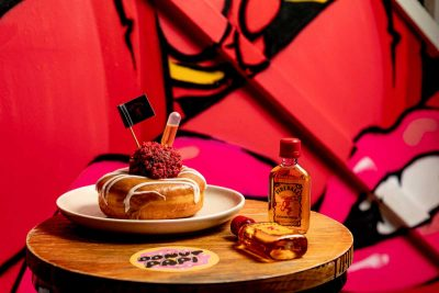 Donut Papi Sydney x Fireball Whisky. Fire in the Hole. Image supplied