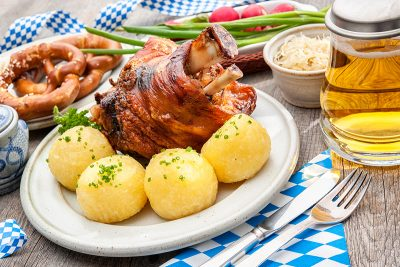 Bavarian pork knuckle. Image Sourced From Shutterstock. Photographed by Alexander Raths.