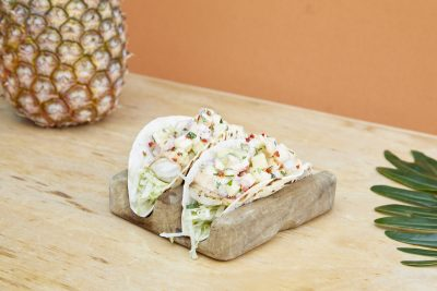 Sydney's SoCal Neutral Bay Baja Fish Taco Recipe. Photographed by Yasmin Mund. Image supplied