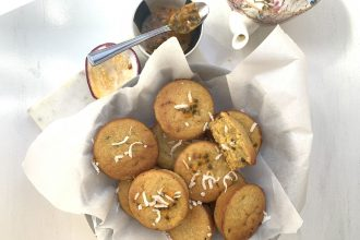 UNCLE TOBYS Passionfruit and Chia Whole-Grain Muffins Recipe. Image supplied