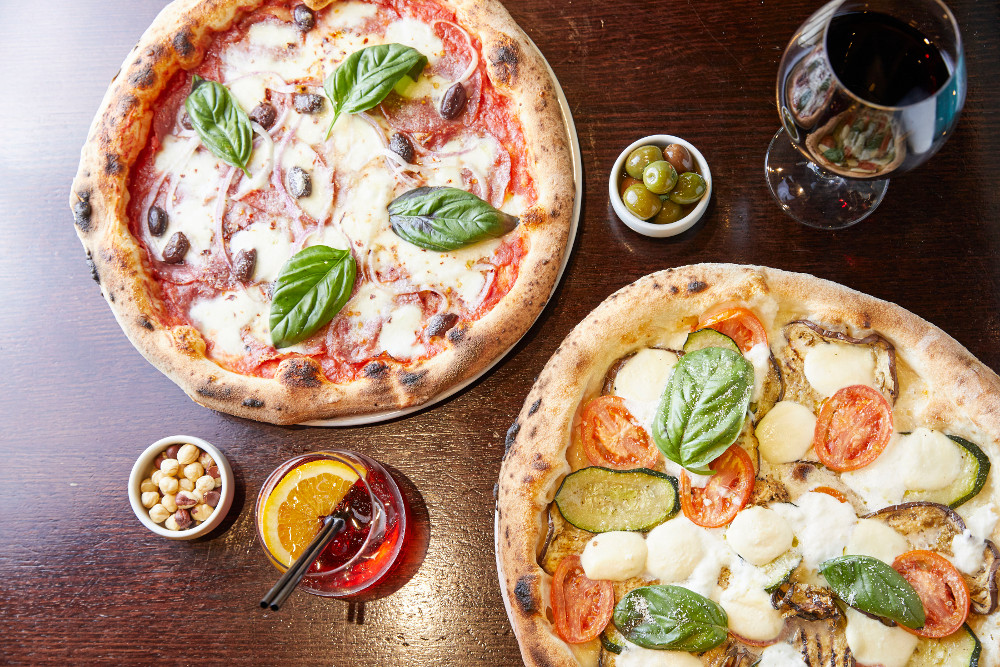 Diavola and Vegetariana Pizza. Photographed by Yasmin Mund. Image: Supplied