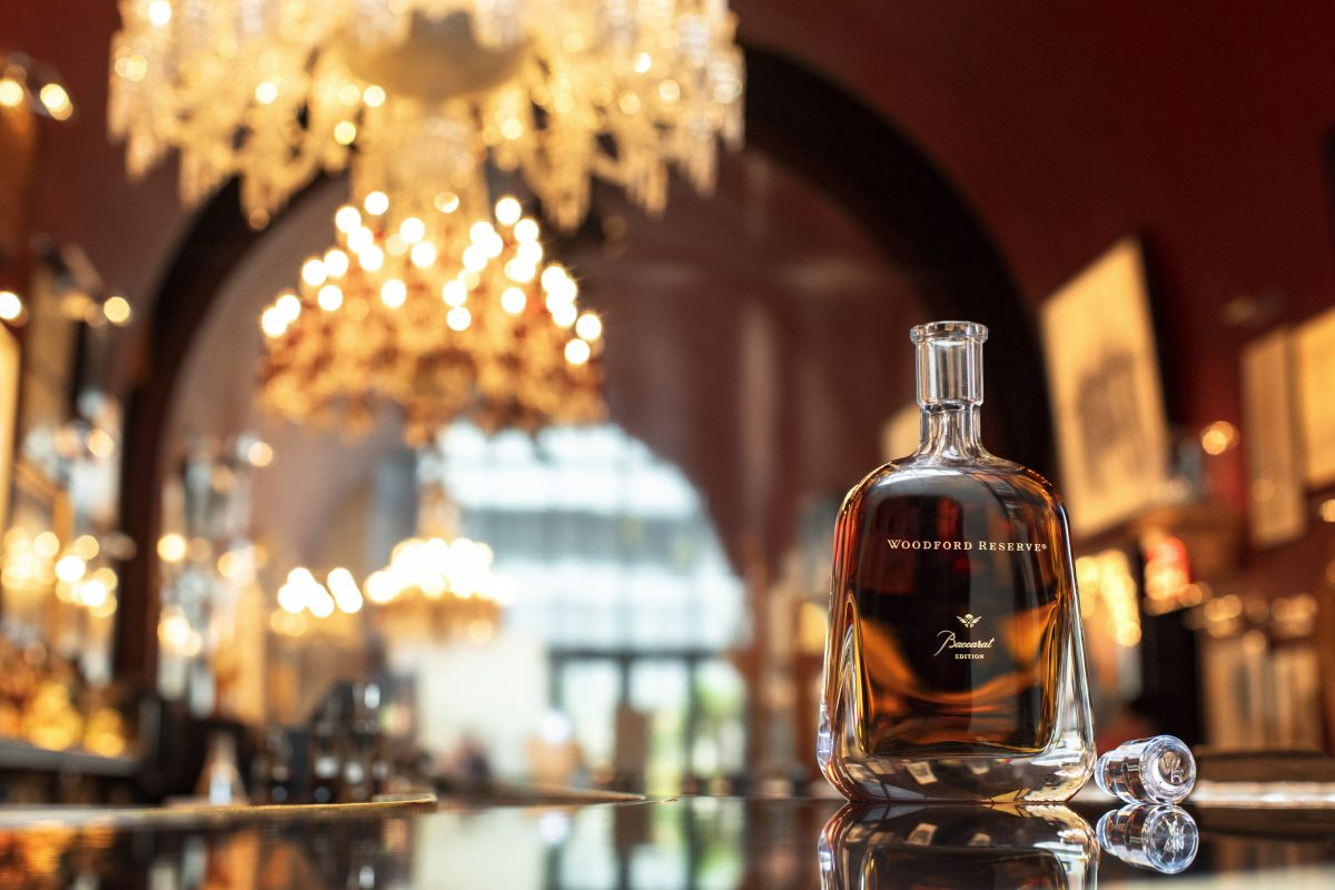 Limited-Edition Woodford Reserve Baccarat Edition Whiskey.