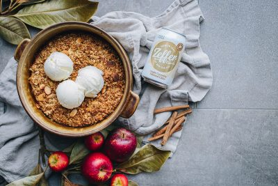 Zeffer Cider Co, Apple Crumble Infused Cider. Image supplied