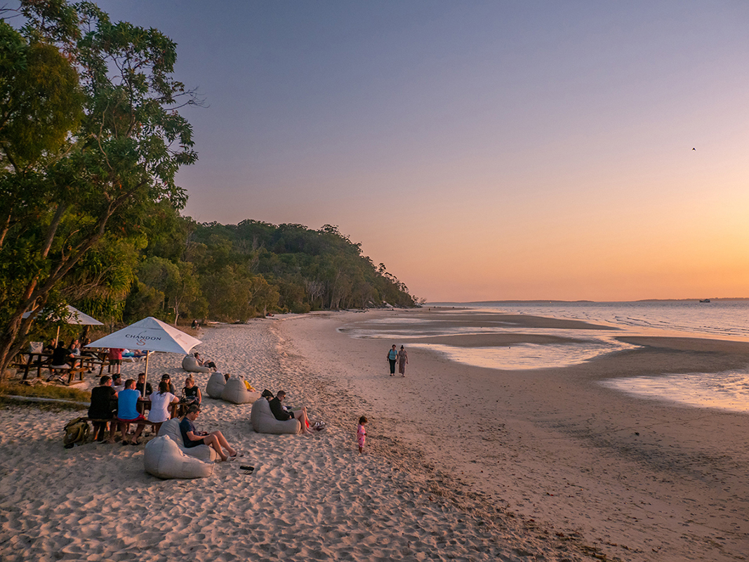 Beach Sunset, Fraser Island. Image supplied by Tourism and Events Queensland.