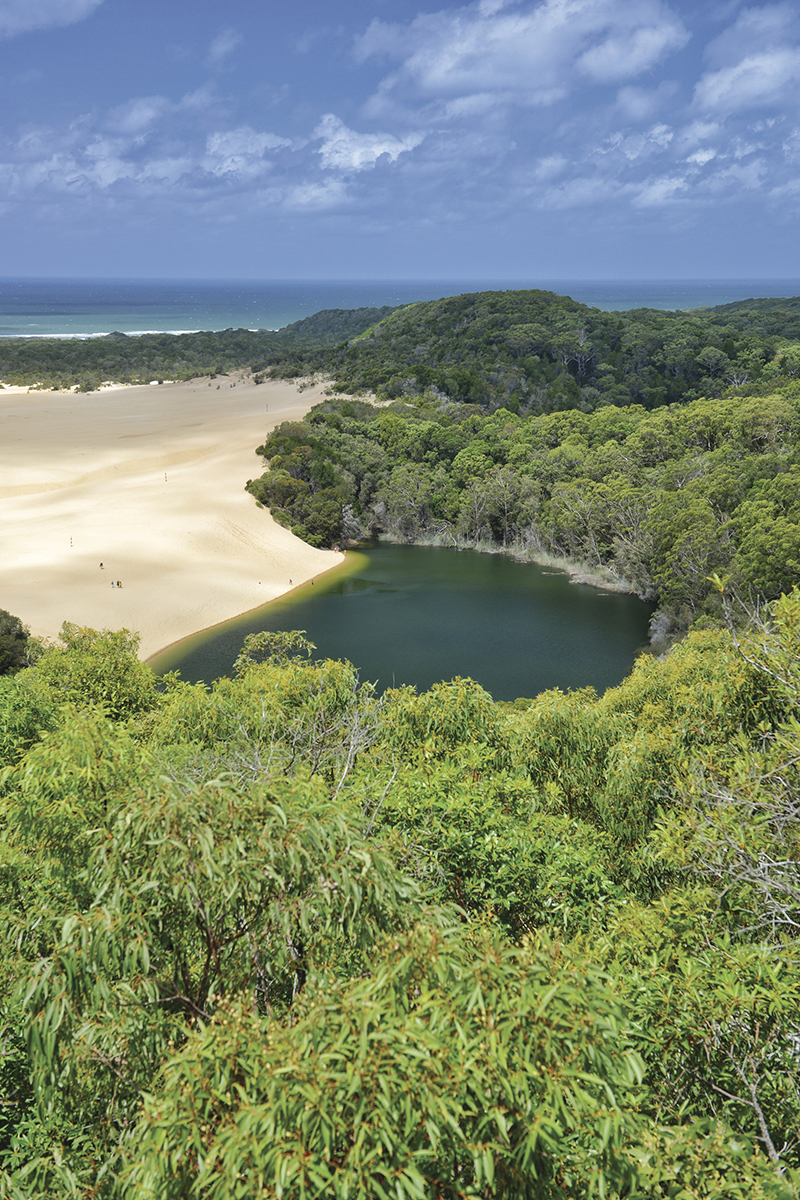 Lake Wabby, Fraser Island. Image supplied by Tourism and Events Queensland.