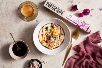 Martin Benn Chef Kheer Mango Rice Pudding Nescafé Espresso India. Image supplied.