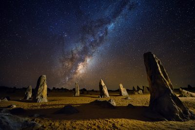 The Pinnacles, Western Australia. Image via Shutterstock, Photographed by sammax chong.