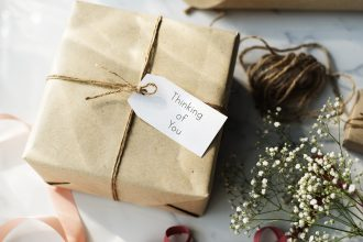 Thinking of you present gift. Photographed by Rawpixel.com. Image via Shutterstock
