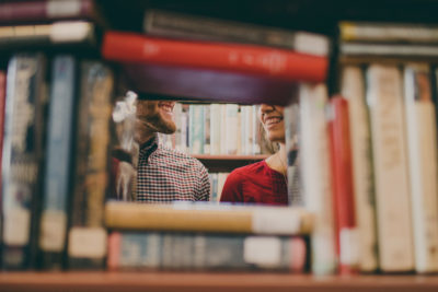 Love romance novels library. Photographed by Josh Felise. Image via Unsplash