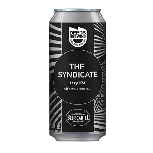 <strong>Deeds/Beer Cartel</strong> The Syndicate Hazy IPA
