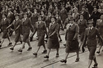 Nurses from 7th Australian General Hospital marching in 1942. Image by Museums Victoria via Unsplash.