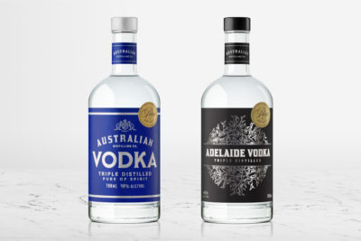Australian Distilling Co. Vodka and Adelaide Vodka. Image: Supplied