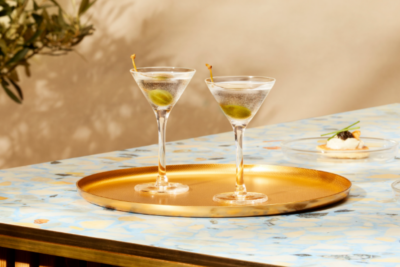 Grey Goose Dirty Martini. Guide on How To Make 5 Easy Classic Martini Cocktail Recipes. Image supplied.