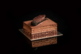 Meet Koko Black and Black Star Pastry's Limited-Edition World Chocolate Day Cake. Black Star Pastry and Koko Black limited edition Meteor Cake. Image supplied.