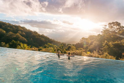 O'reilly Rainforest Retreat. Photographed by Jesse Lindemann. Image via Tourism and Events Queensland