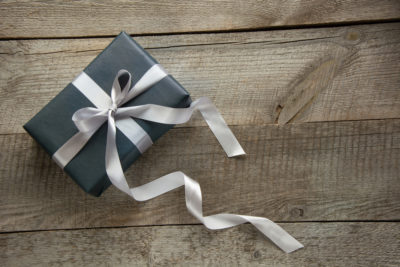 10 Best Gifts Ultimate Father's Day Gift Guide for 2021. Gift box. Photographed by Lazhko Svetlana. Image via Shutterstock.